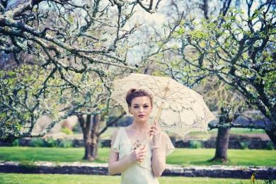 Clovelly House festival garden vintage styled photo shoot english wedding blue fizz events Devon wedding photographer (2)
