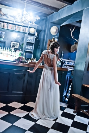 Bristol wedding photographer Liberty Pearl photography styled vintage wedding photo shoot The Milk Thistle and The Ox Bristol