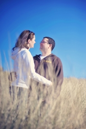 Kat and Chris Saunton Sands beach engagement pre wedding shoot