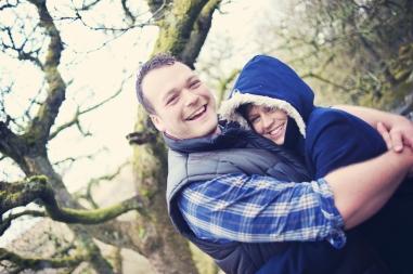 Anna and Rob Pre Wedding Shoot Witman's Wood Dartmoor