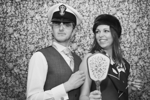 Leigh-ann and Chris Vintage Wedding Photo Booth Lavender House Hotel Devon