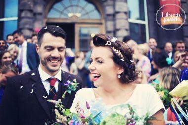 Gill and David Summer Hall wedding Scotland Edinburgh