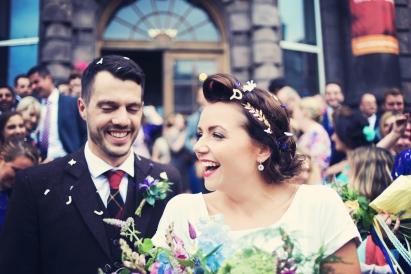 Gill and David edinburgh wedding scotland natural style