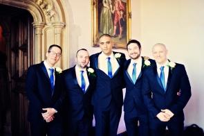 Ashton Court Bristol creative wedding blue and gold 75