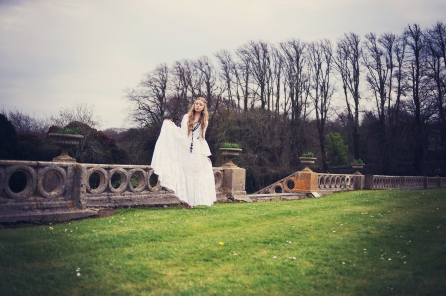 Wedding festival styled photo shoot blue fizz events Clovelly House Devon