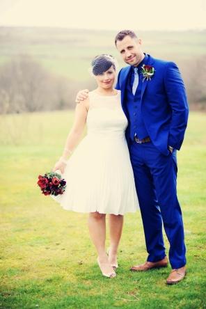 Cornish vintage wedding at trevenna barns