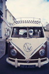 Jodie and Will wedding Polhawn Fort - Cornwall wedding photographer VW camper van