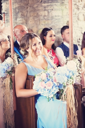 Jodie and Will wedding Polhawn Fort - Cornwall wedding photographer bridesmaid