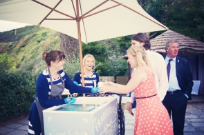 Jodie and Will wedding Polhawn Fort - Cornwall wedding photographer ice cream