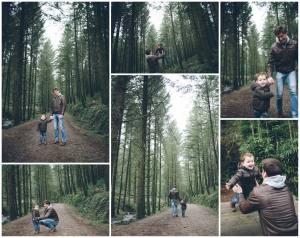 family photo shoot Cardinham woods Cornwall