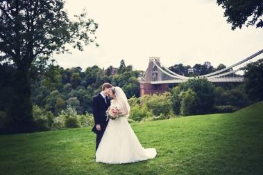 Liberty Pearl Bristol wedding photographer Clifton Village suspension bridge 6