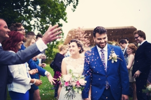 Liberty Pearl Devon wedding photographer The Oak Barn quirky vintage 21