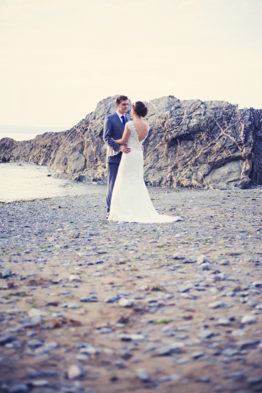 Liberty Pearl natural wedding photographer Cornwall Polhawn Fort beach 21