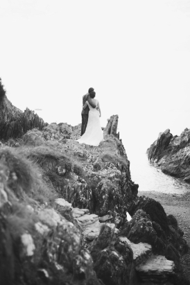 Liberty Pearl natural wedding photographer Cornwall Polhawn Fort beach 23