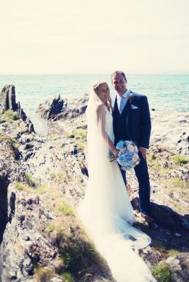 Cornish beach wedding at Polhawn Fort and Rame Church Cornwall 1