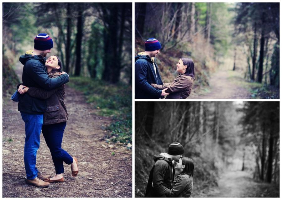 Pre wedding photo shoot Cornwall woodland