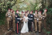Trevenna Barns Cornwall military rustic winter wedding 117