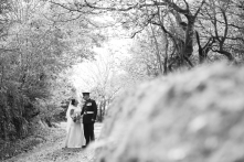 Trevenna Barns Cornwall military rustic winter wedding 120