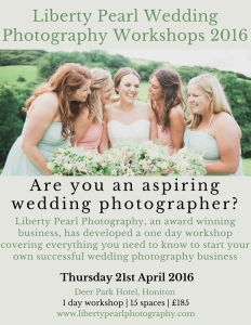 WEDDING PHOTOGRAPHY BUSINESS WORKSHOP