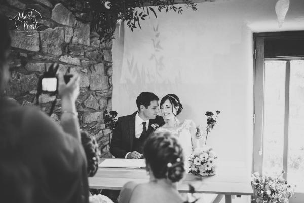 Ash and Kate wedding Trevenna Barns wedding photography in Cornwall