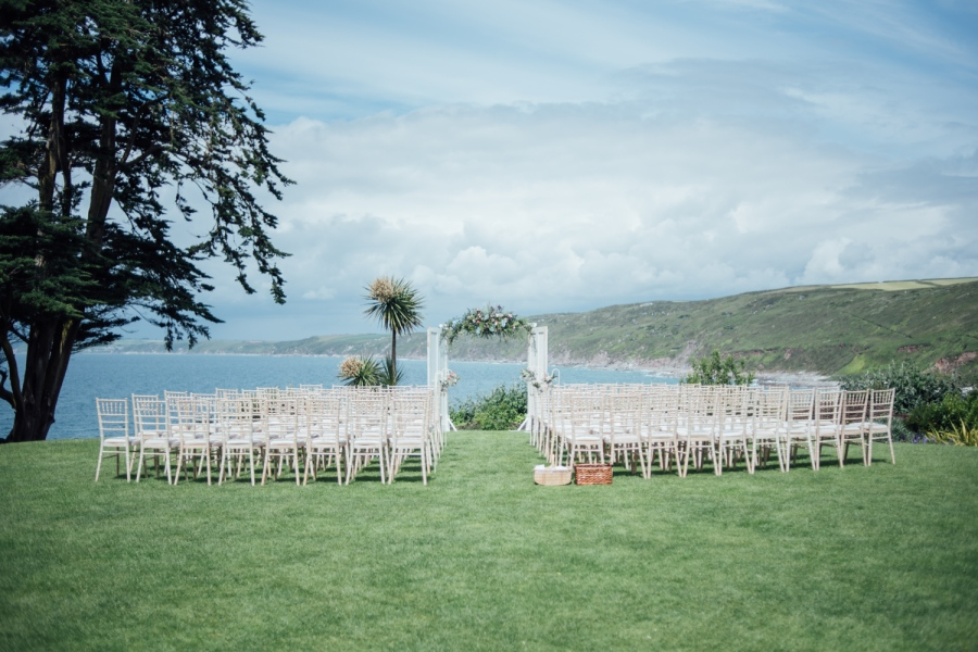 Polhawn Fort outdoor ceremony Cornwall wedding photographer