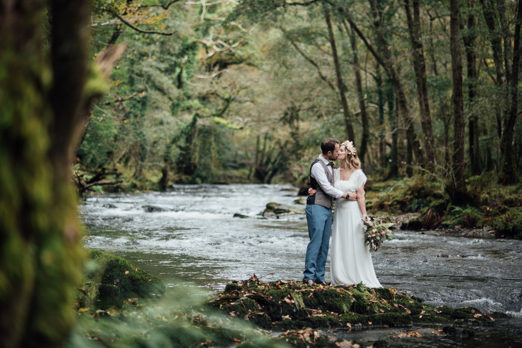 Magical elopement woodland nature wedding in Dartmoor Beautiful elopement in Dartmoor